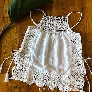 White Lace Boho Top